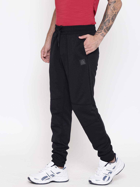 Reebok Men Black TS Knit Joggers