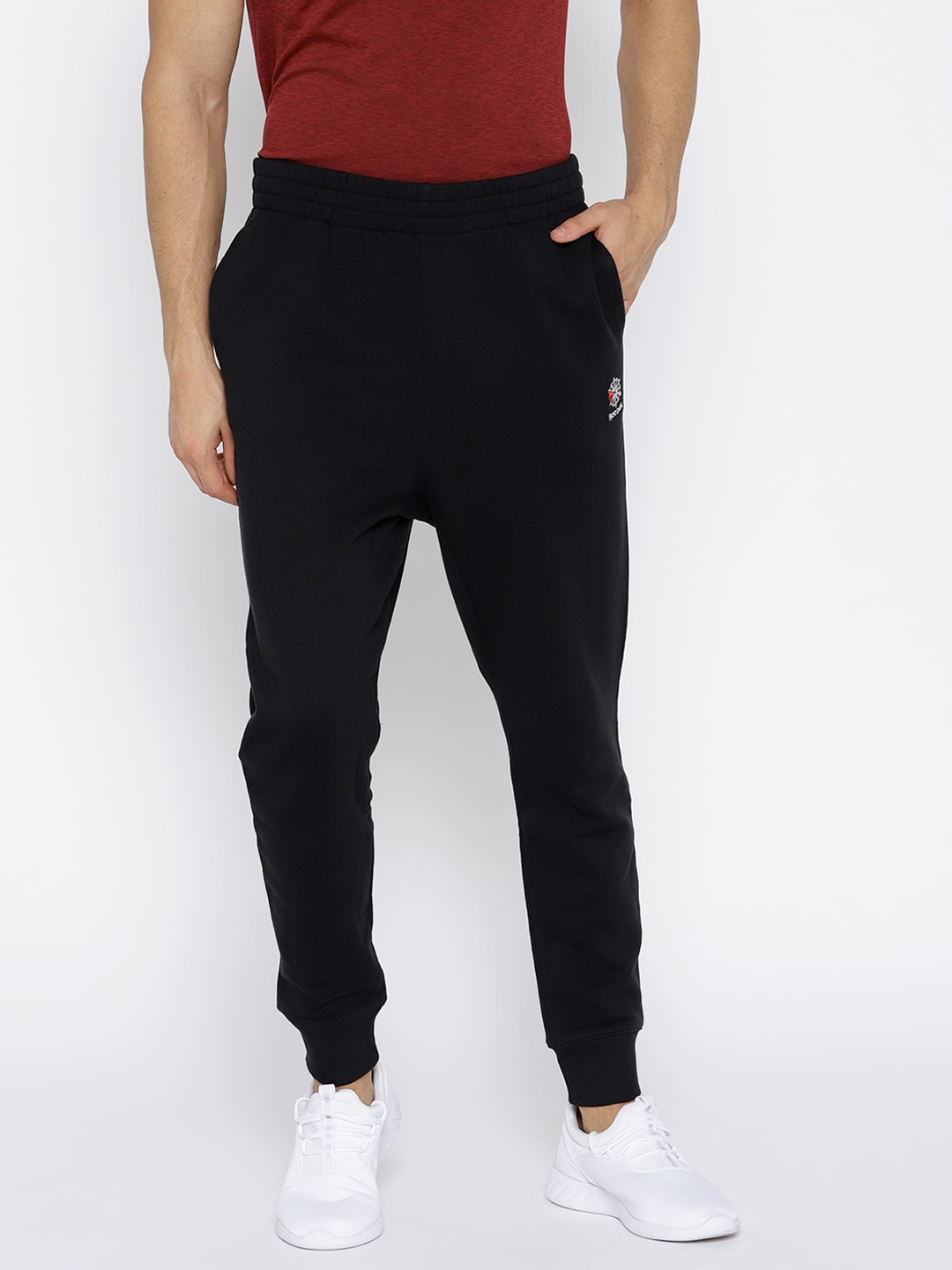 fd24fa8ad254 Reebok Classic Men Black AC French Terry Joggers