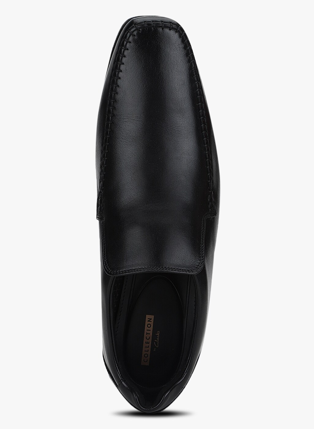 Clarks Glement Seam Leather Shoes in Black
