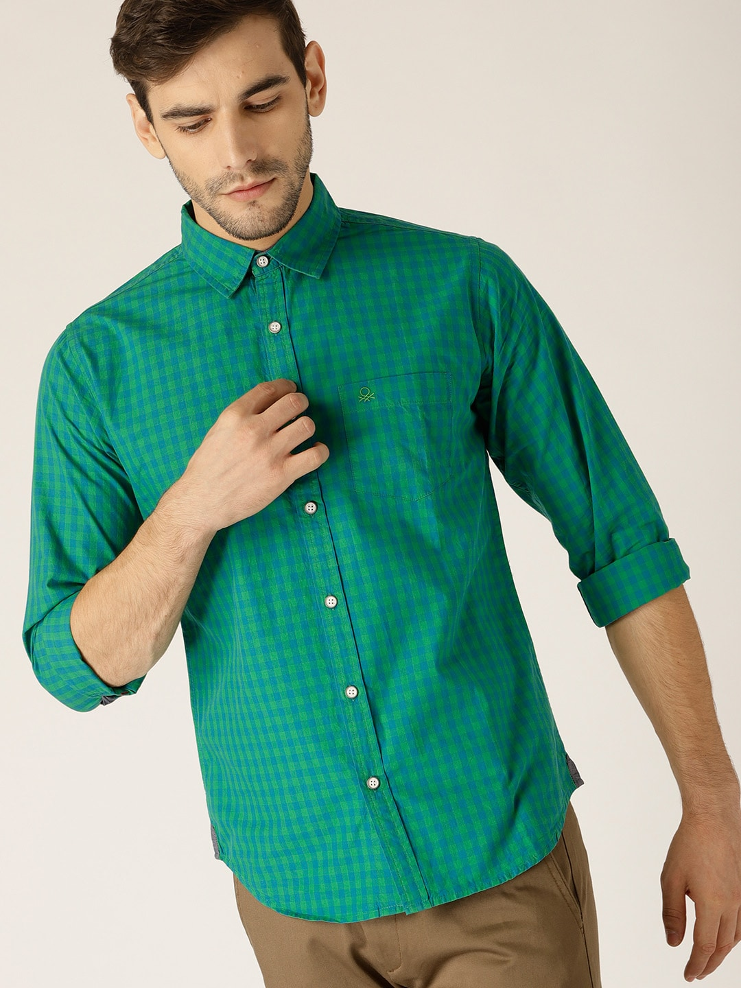 68f90583028d1 Olive Green Color Shirt - Buy Olive Green Color Shirt online in India