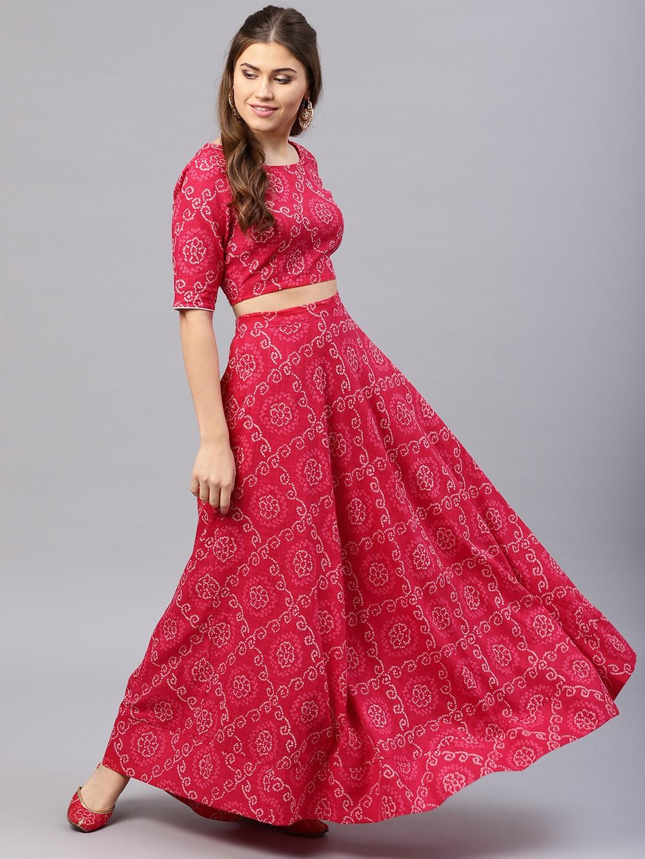 Bandhani Lehenga Choli Buy Bandhani Lehenga Choli Online In India