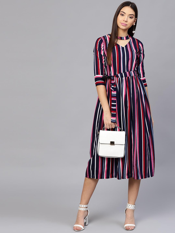 b8b86065df19 Striped Dresses - Buy Striped Dresses online in India