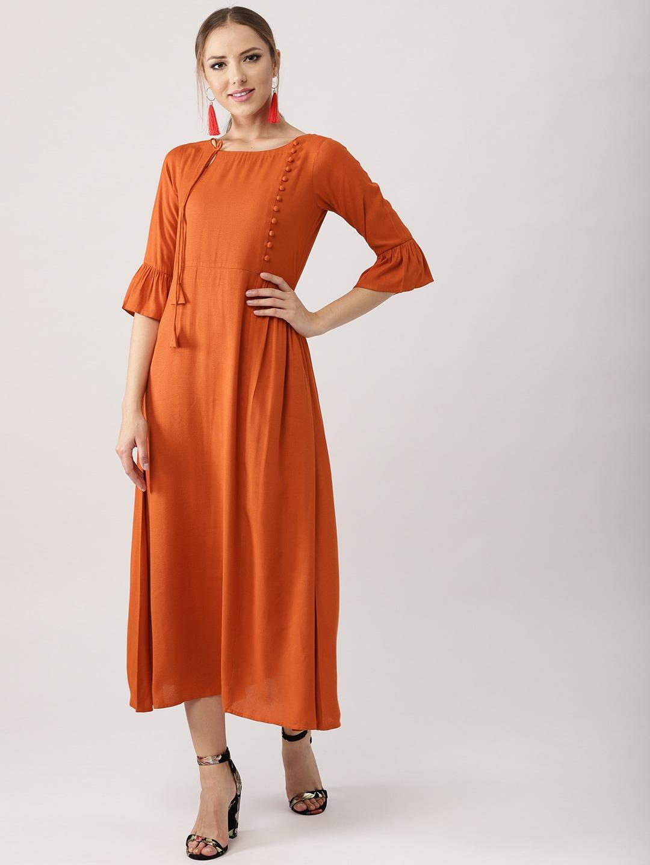 bb3dfd206b Burnt Orange Chiffon Maxi Skirt
