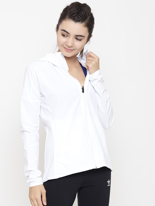 adidas jacket womens white