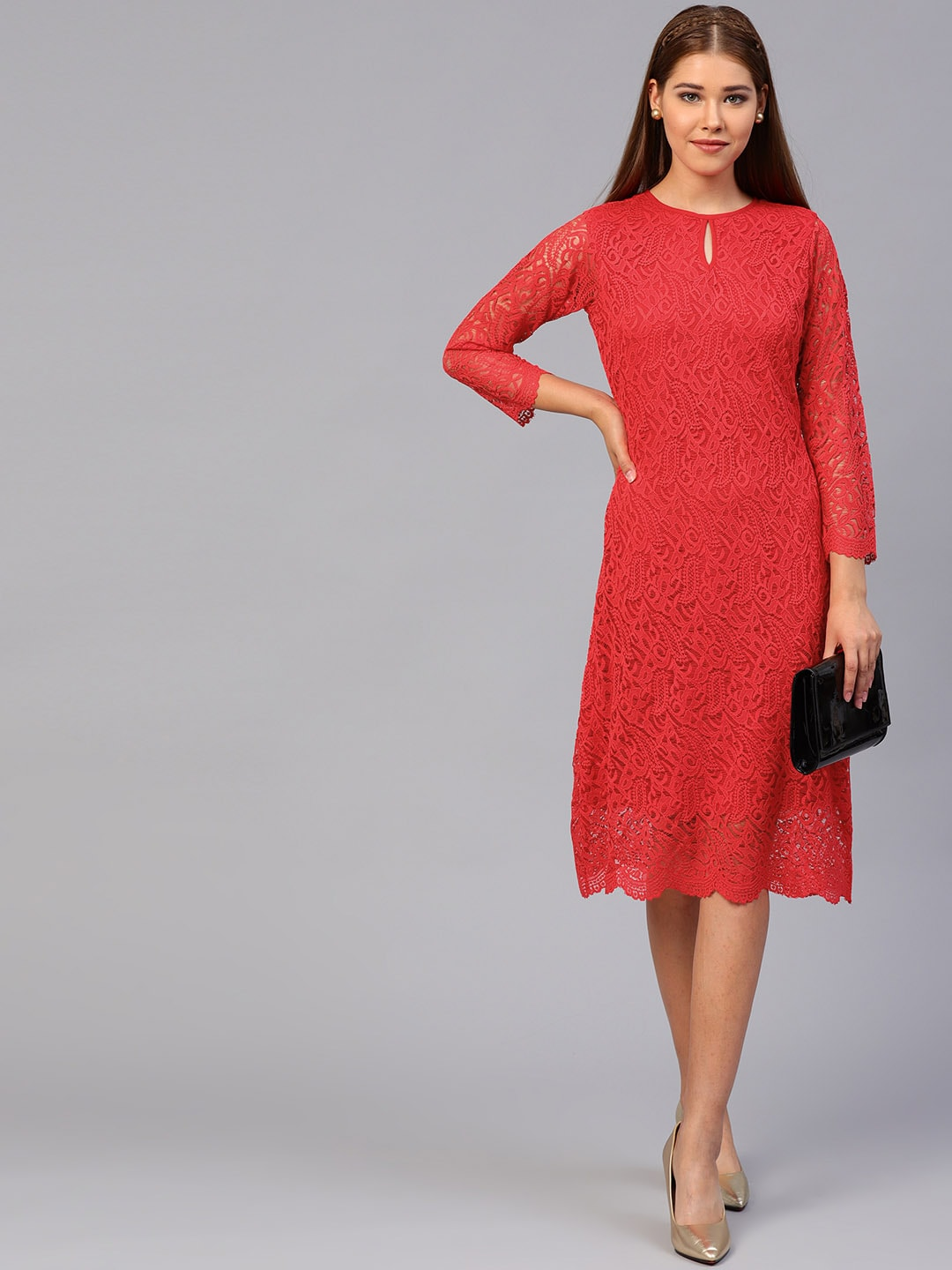 68c2f8c4f7 Red Dress - Buy Trendy Red Colour Dresses Online in India