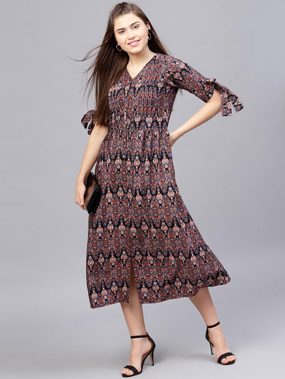 Daftar Harga Dresses N12h Update 2018 Floral Print Womenamp039s Bohemian Chiffon Long Maxi Floor Length Dress Midi Buy For Women Girl Online Myntra