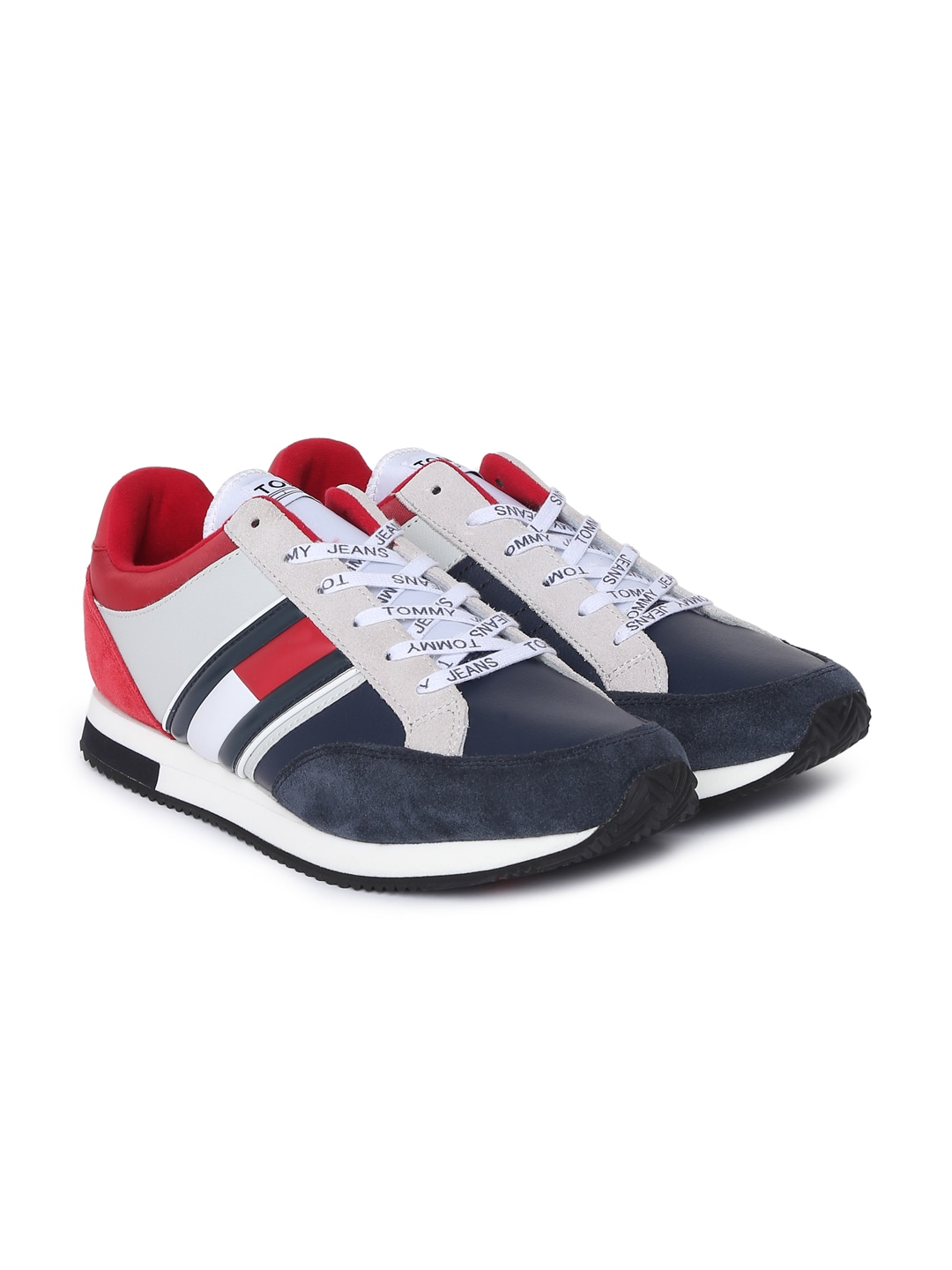 405b8cce4be387 Tommy Hilfiger Men Navy Blue   Red Sneakers