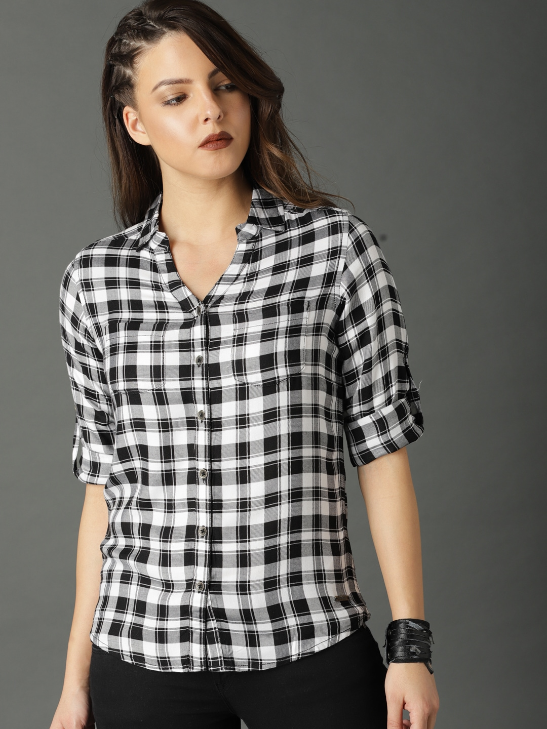 94f69557 Women Check Shirt Shirts Tunics - Buy Women Check Shirt Shirts Tunics  online in India