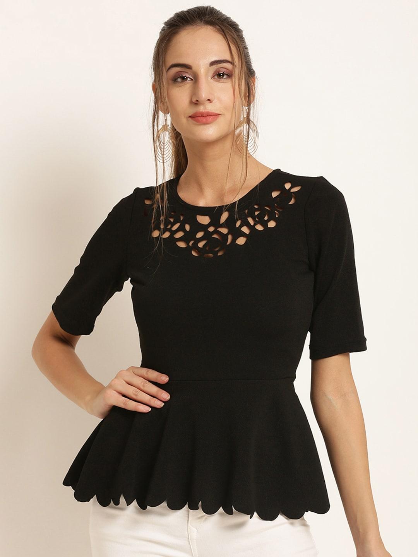 341fbdf8d6cc35 Black White Tops Women - Buy Black White Tops Women online in India