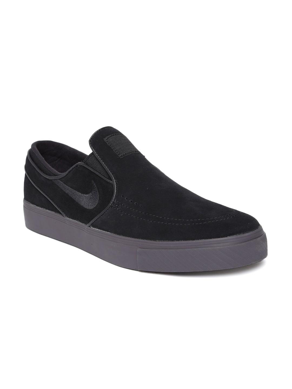 best service f94e2 e5e90 Nike Men Black Zoom Stefan Janoski Suede Skateboarding Shoes