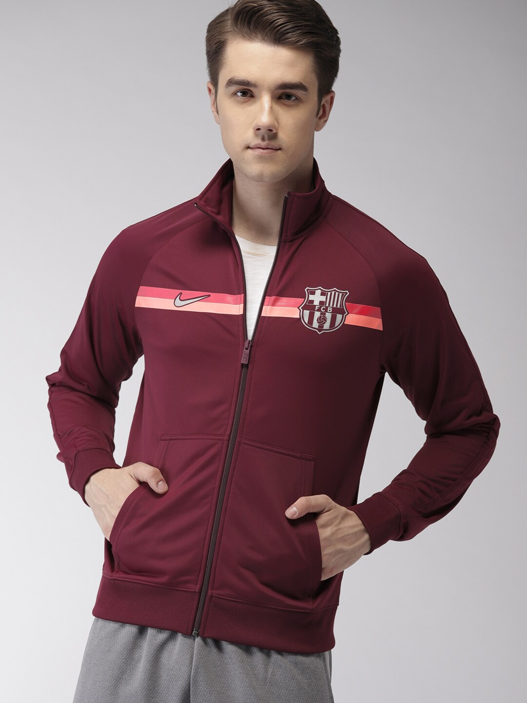 35c5b60c2 Nike Men Maroon FCB M NSW Sporty Jacket