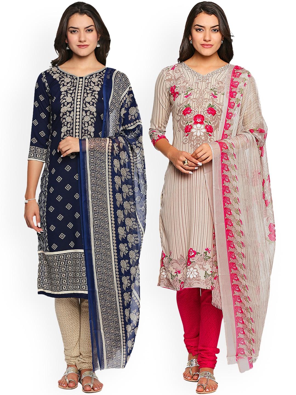 b8442dfd68 Printed Dress Material - Buy Printed Dress Material Online in India