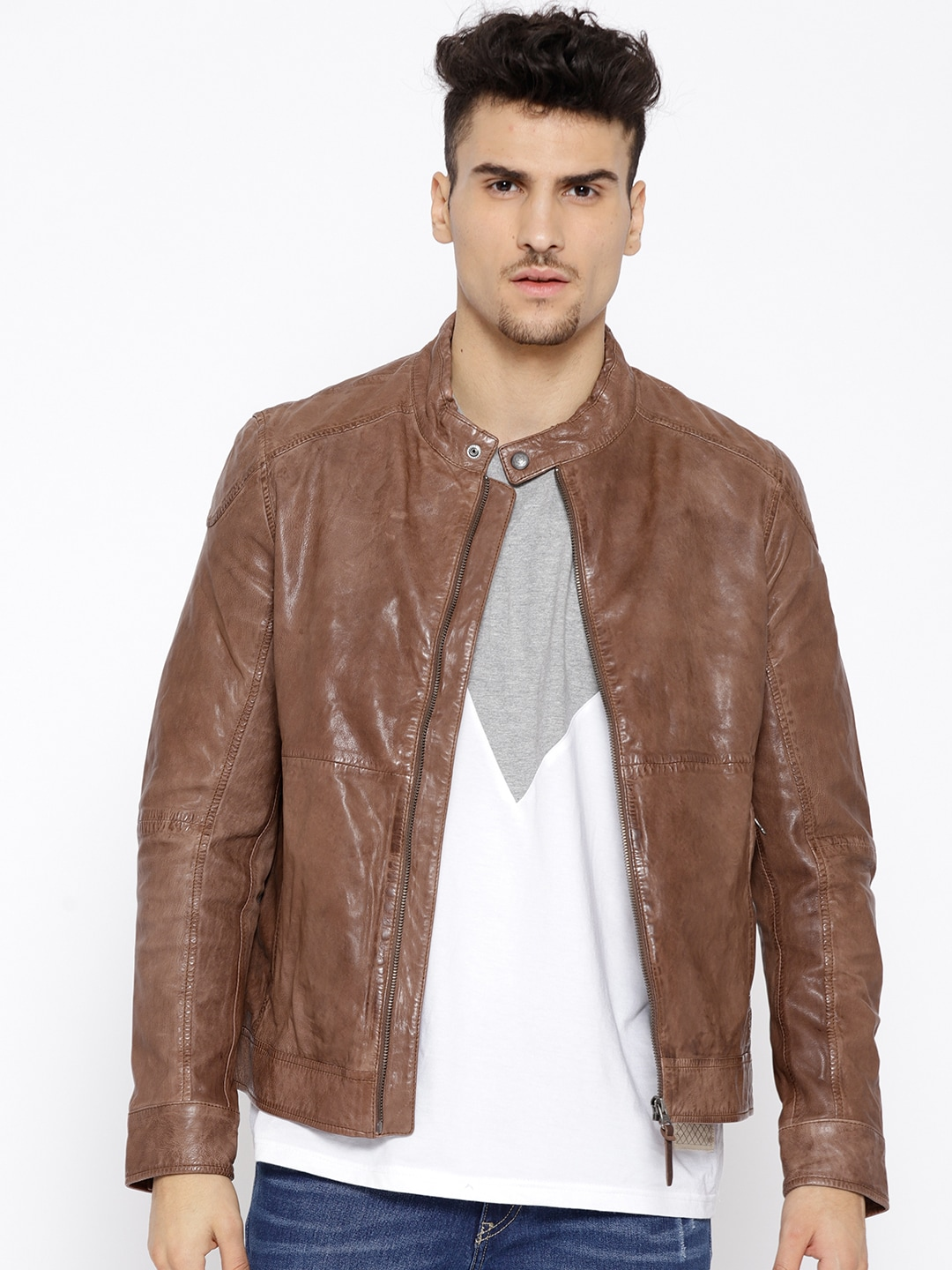 f9175731c578 Leather Jackets - Buy Leather Jacket Online in India