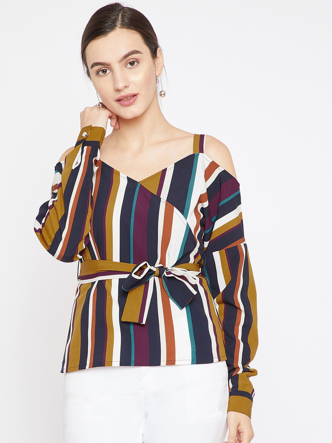 eb140e36c0a Women Striped Tops - Buy Women Striped Tops online in India