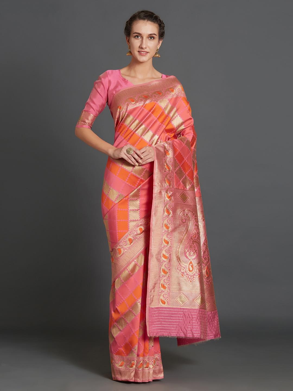 f5bed84151e29f Pink Saree