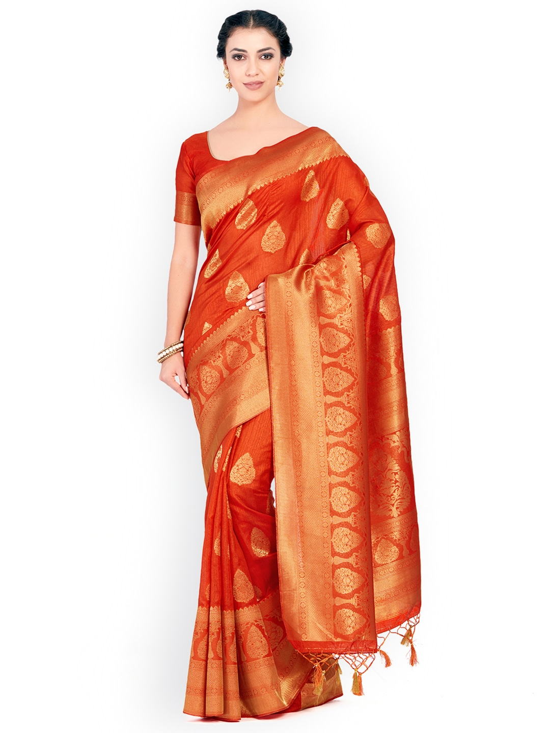 23a3687f3b07a Rust Traditional Sarees - Buy Rust Traditional Sarees online in India