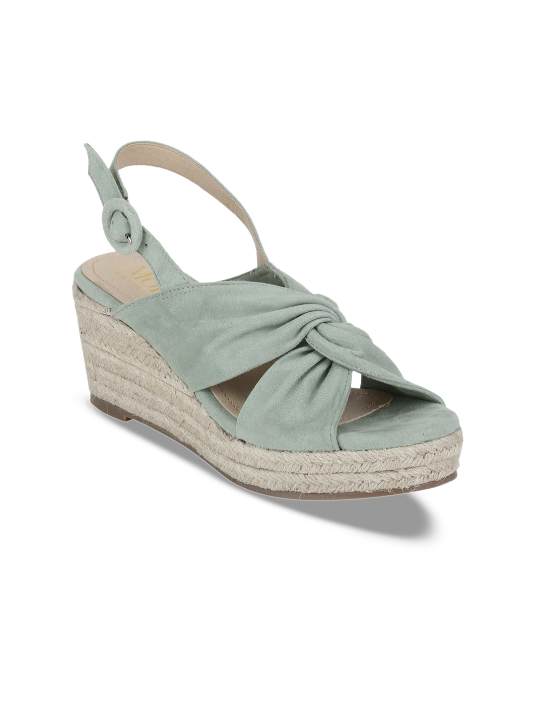 a052a55baea Mode by Red Tape Women Green Solid Sandals