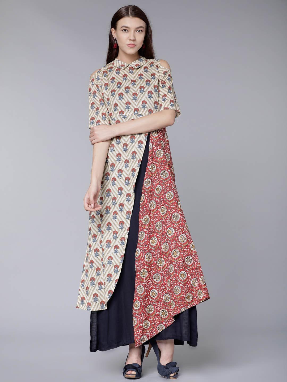 4d3627a2501 No Collar Kurtas - Buy No Collar Kurtas online in India