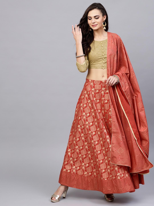 269b6ff366a5db Ethnic Wear Lehenga Choli Stoles - Buy Ethnic Wear Lehenga Choli Stoles  online in India