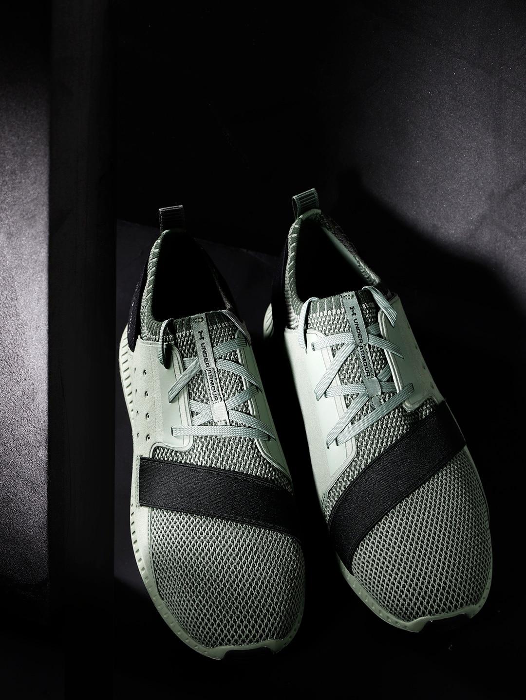 size 40 5e8e0 de8b6 UNDER ARMOUR Men Olive Green Threadborne Shift Heathered Woven Design  Sneakers