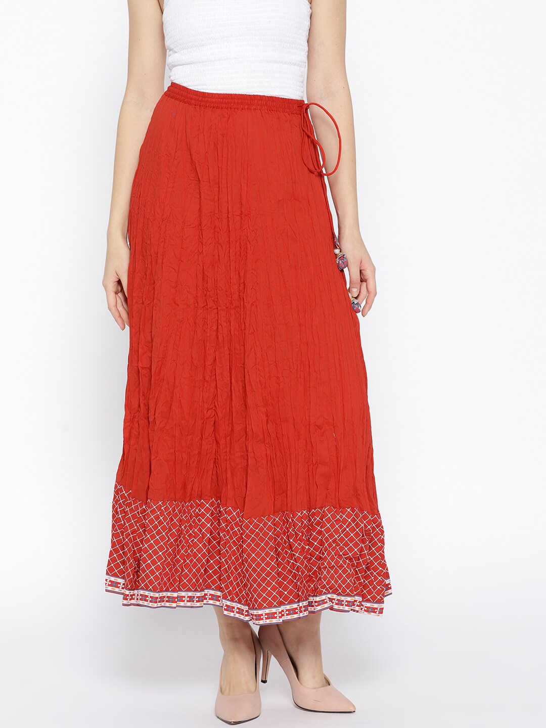 0fc5041f2d27 Biba Red And Gold With Skirt - Buy Biba Red And Gold With Skirt online in  India