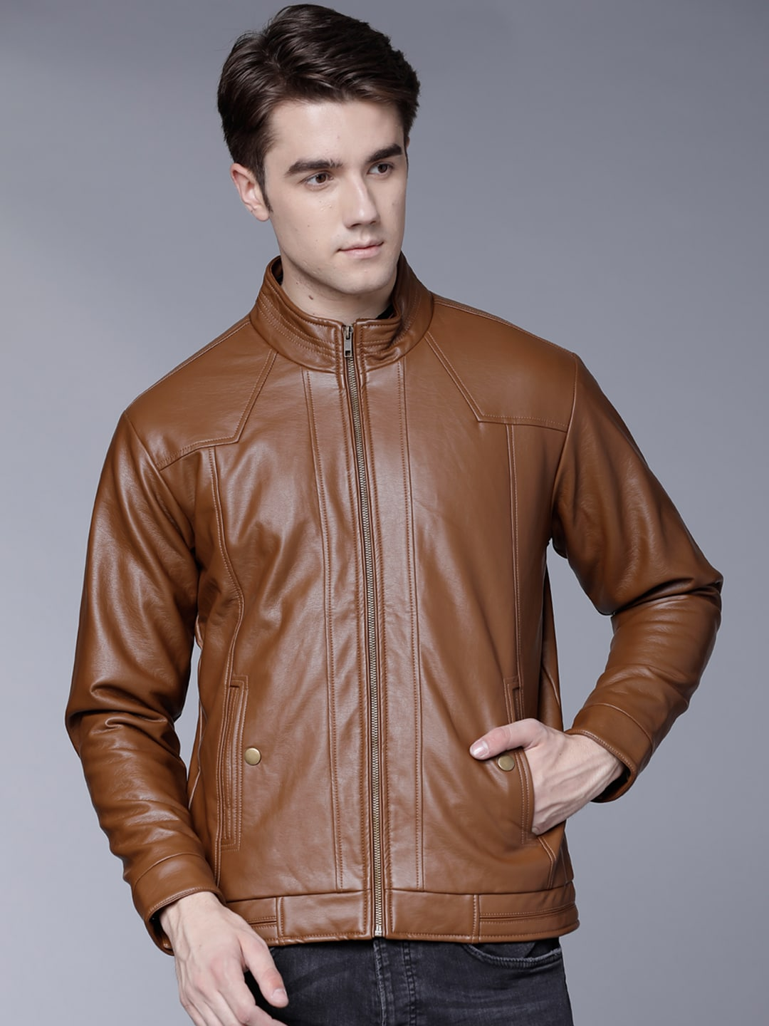 2d2673f64f Leather Jackets - Buy Leather Jacket Online in India