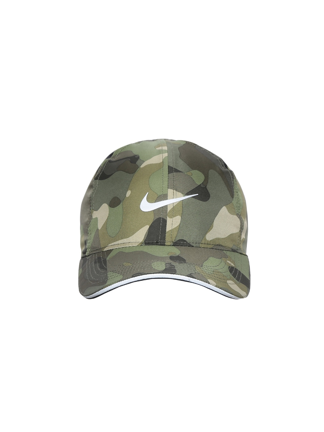 2471dcbd47fb0 Nike Unisex Olive Green DRY FEATHERLIGHT Camouflage Printed Baseball Cap