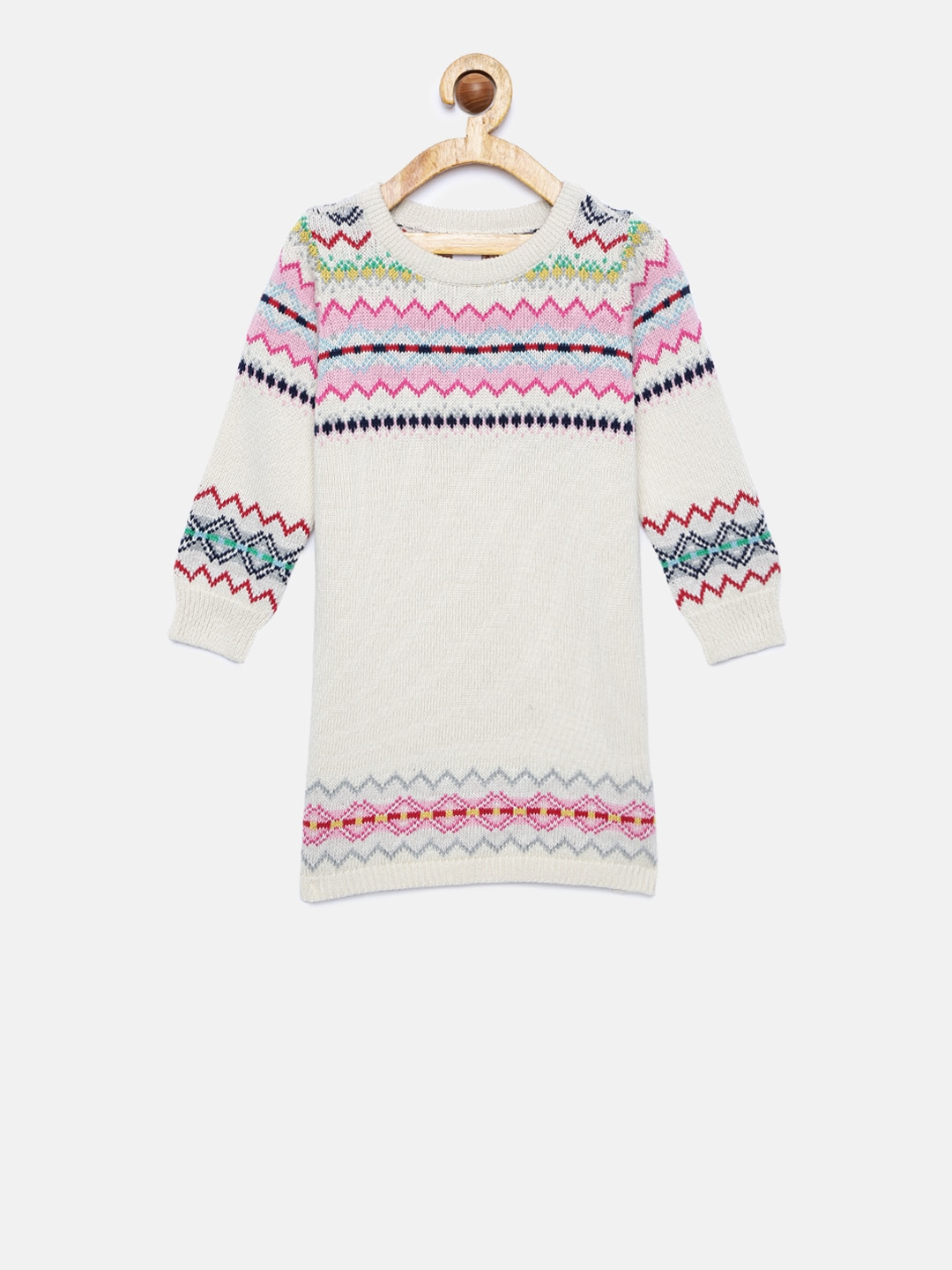 9b524332d GAP Baby Girls  Multi-Coloured Fair Isle Sweater Dress