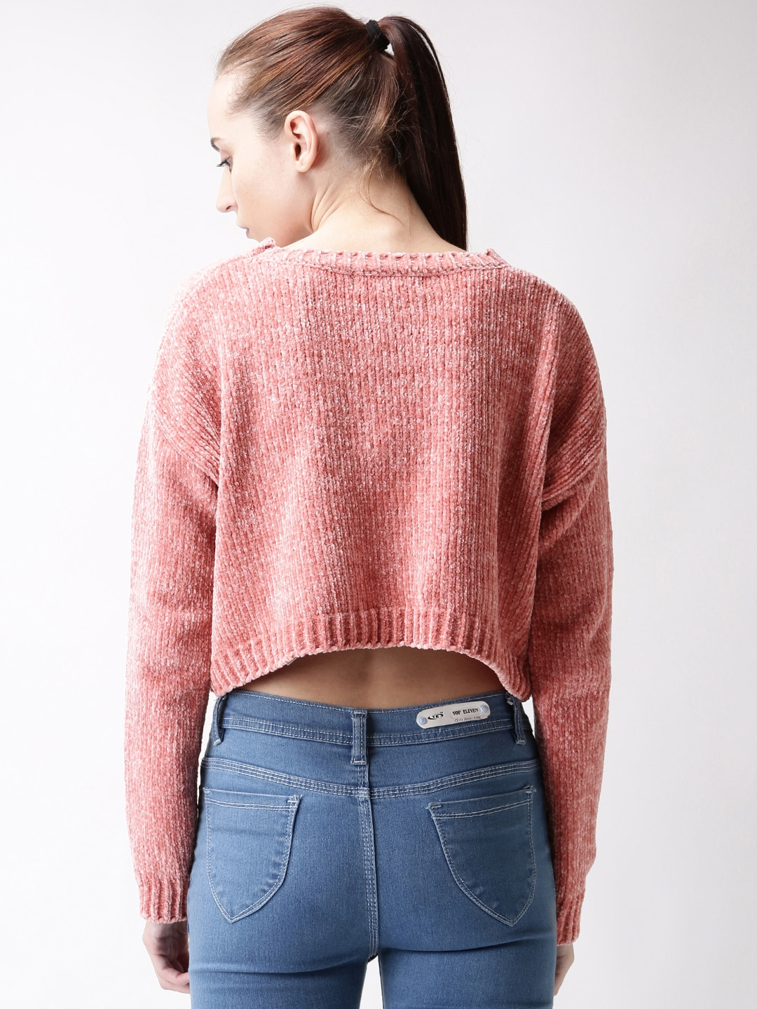 FOREVER 21 Pink Pullover Crop Sweater