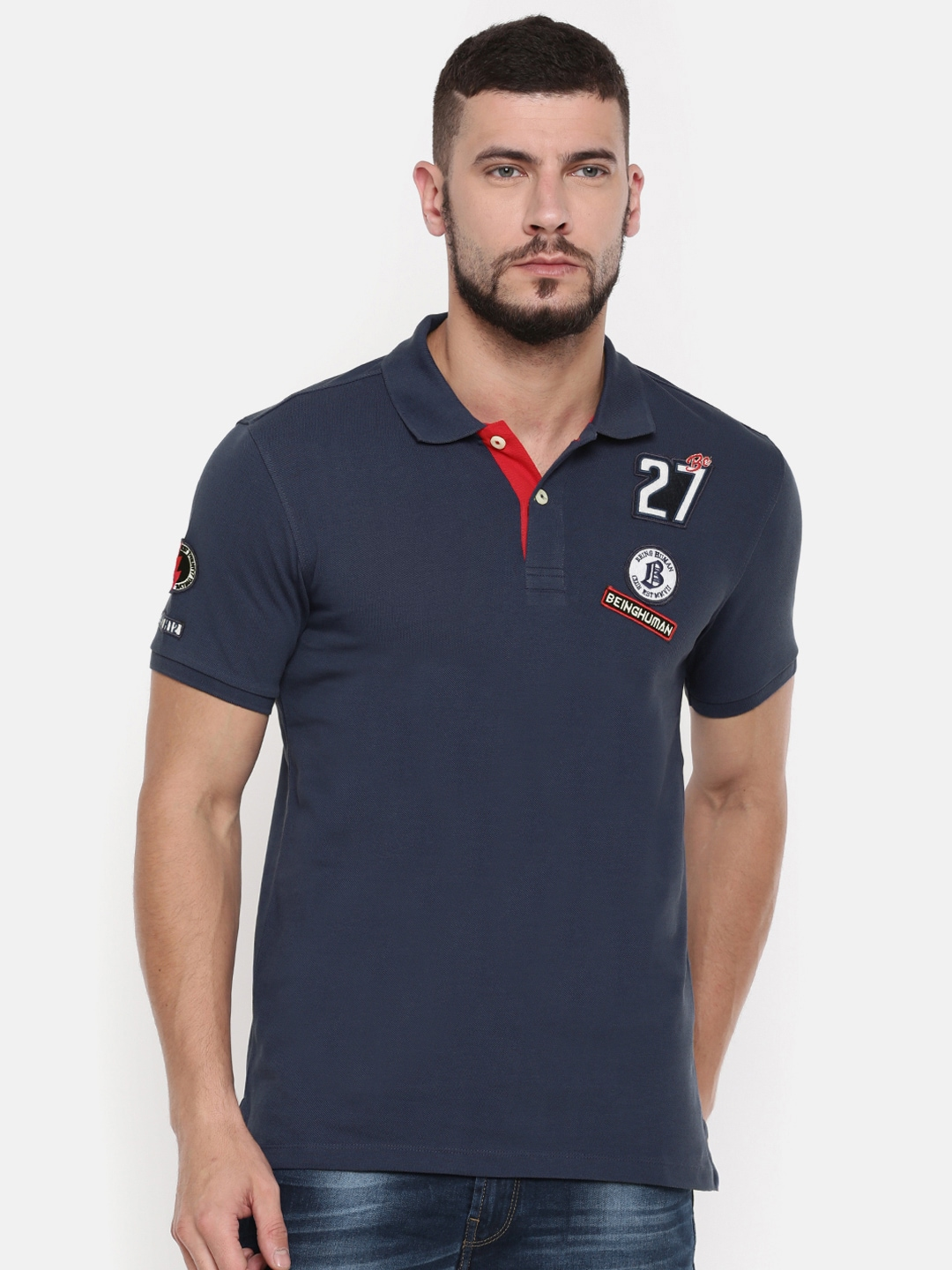 Buy Being Human T Shirts Online For Men At Myntra Kaos Polos Maroon Solid