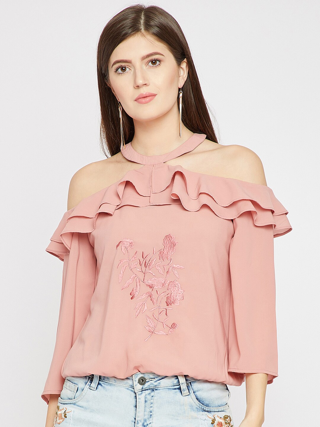 74f97e17b45 Marie Claire Pink Top - Buy Marie Claire Pink Top online in India