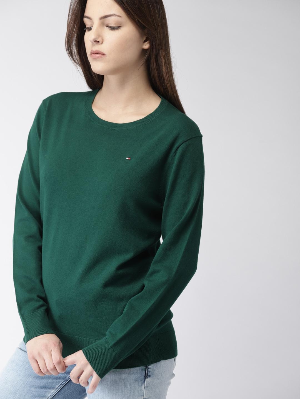 e32f35371d0f4 Tommy Hilfiger Green Sweaters - Buy Tommy Hilfiger Green Sweaters online in  India