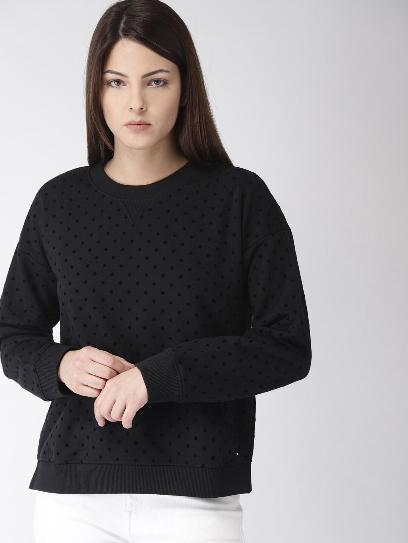 dbdfca8444 Tommy Hilfiger Women Sweatshirts - Buy Tommy Hilfiger Women Sweatshirts  online in India