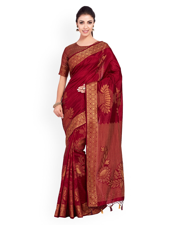 2c718987d Maroon Saree - Buy Maroon Sarees Online in India