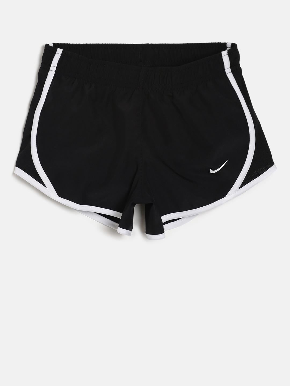 c6bebc60 Nike Girls Black Solid Dry Tempo Running Shorts