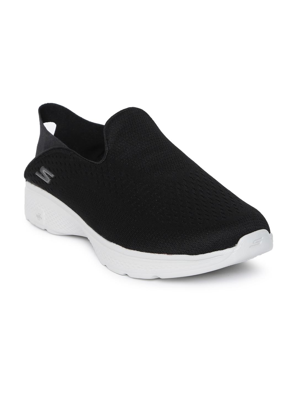 Top Mesh Walking Shoes Skechers Mid Men Black dhBrCxstQ