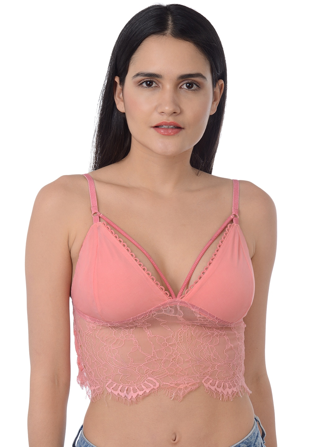 5aa29dd635fd3 Pink Yellow Sarees Bra - Buy Pink Yellow Sarees Bra online in India