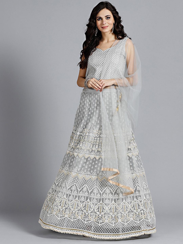 c3fc51cbcc Embroidered Sarees Lehenga Choli - Buy Embroidered Sarees Lehenga Choli  online in India