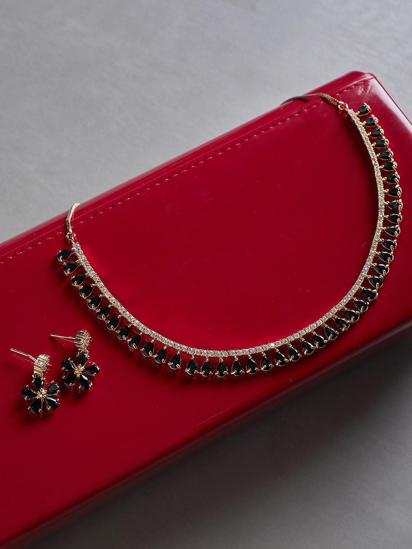 In Black Jewellery Set Necklace - Buy In Black Jewellery Set Necklace  online in India c1a60718ef