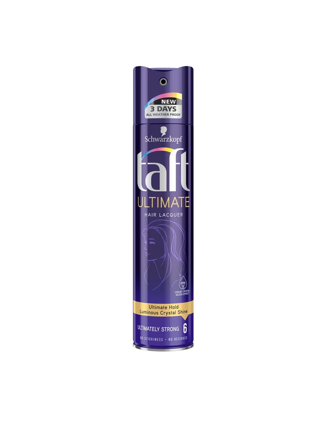 Schwarzkopf Taft All Weather Ultimate Hair Lacquer Ultimately Strong Hair  Styler 250 ml
