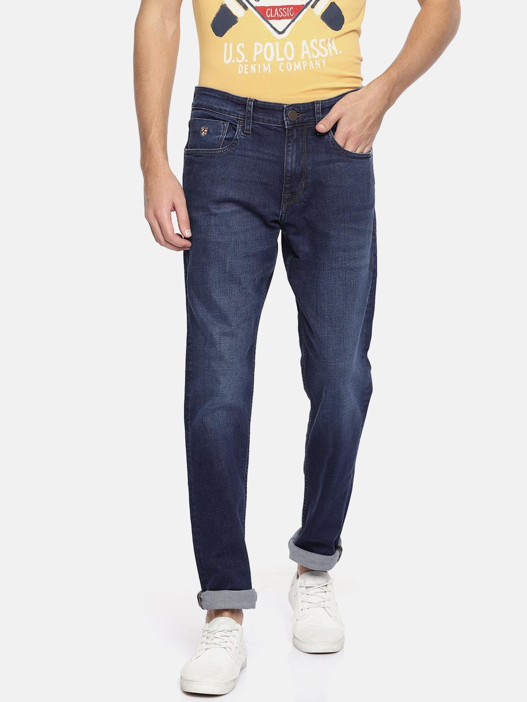 Stretchable AssnDenim Look Clean Jeans sPolo CoMen Slim Fit U Mid Blue Rise AjcRq35LS4