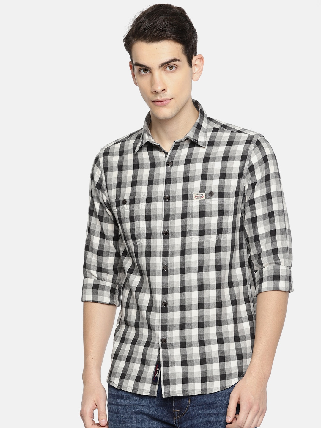 1df4a50d7fa Grey Denim Shirt - Buy Grey Denim Shirt online in India