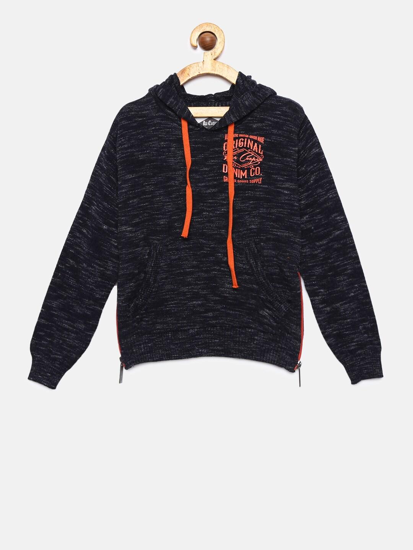 ef67b1409 Lee Cooper Boys Black Solid Pullover