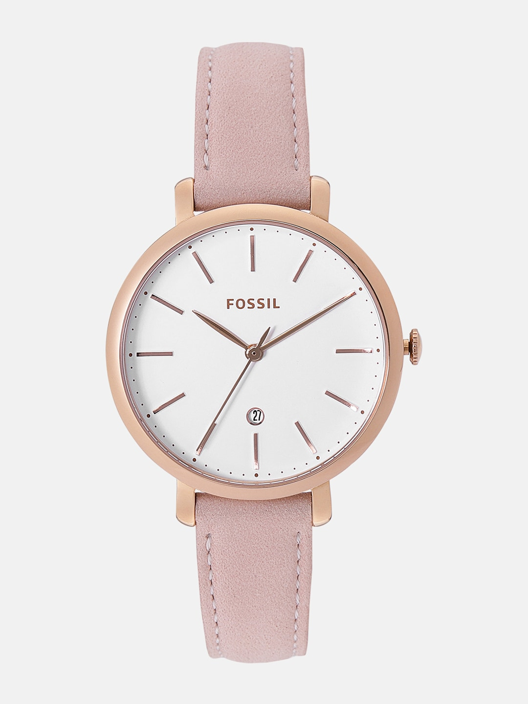 00a40d1973 Fossil Women White Analogue Watch ES4369_OR1