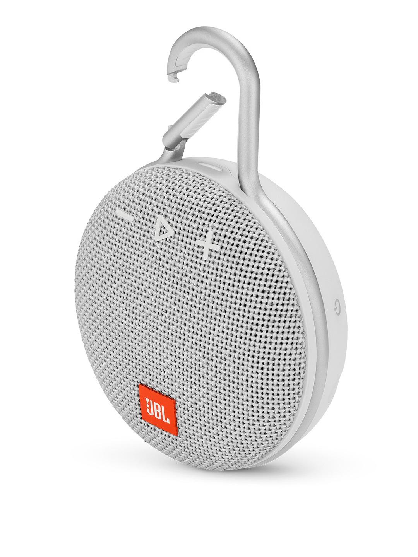 JBL White Clip 3 Ultra-Portable Wireless Bluetooth Speaker with Mic  JBLCLIP3WHT