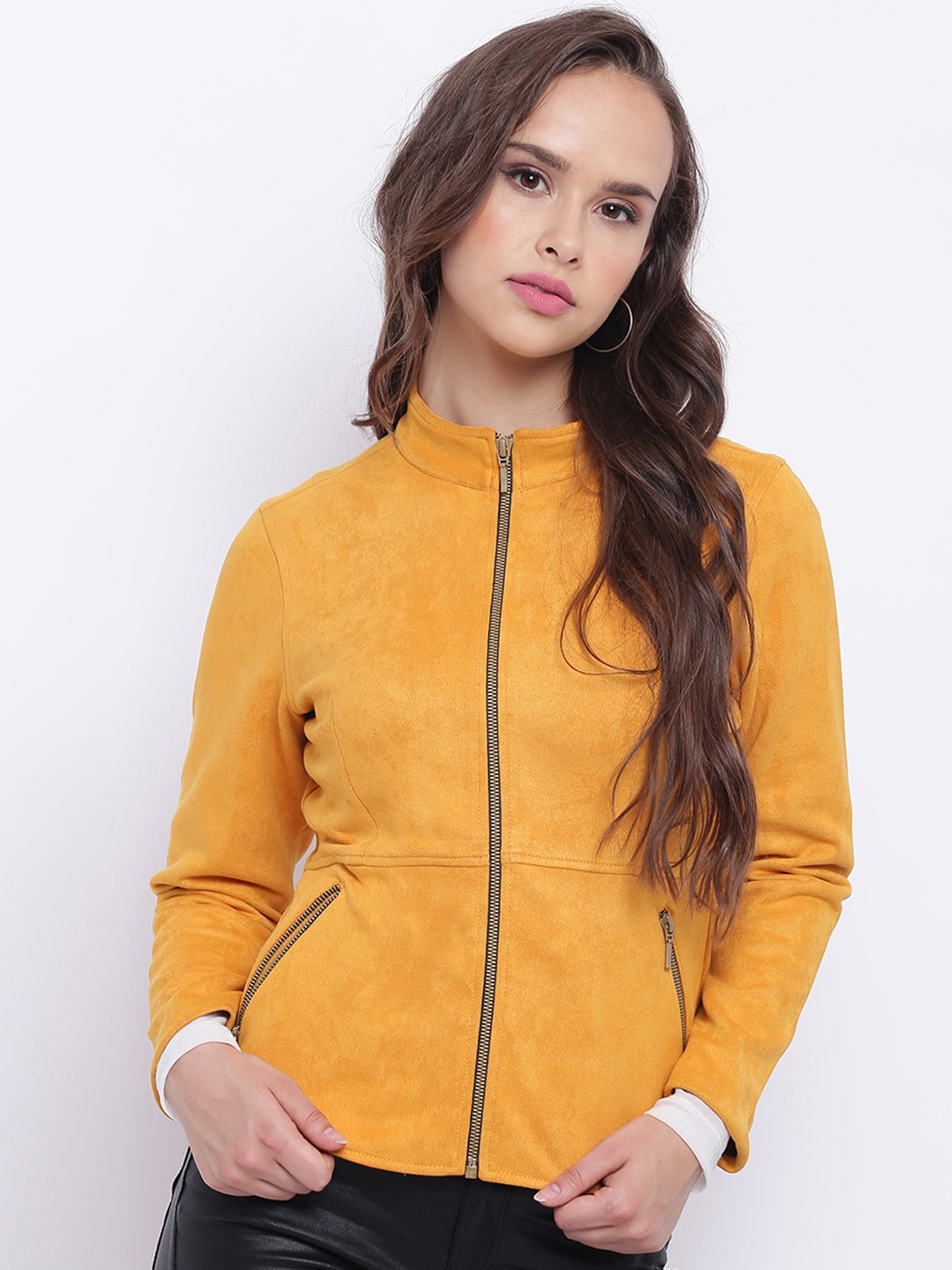 685a9147f Texco Women Yellow Open Front Insulator Jacket