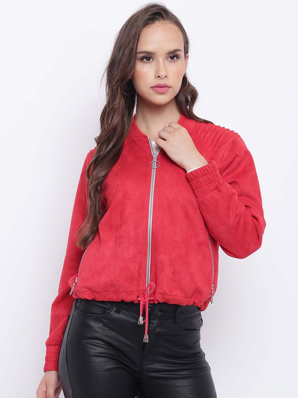 aa22cf1b1 Texco Women Red Insulator Bomber Jacket
