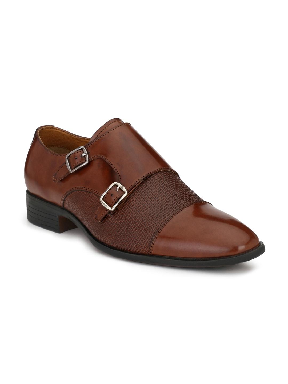 Mactree Men Brown Formal Monk Shoes