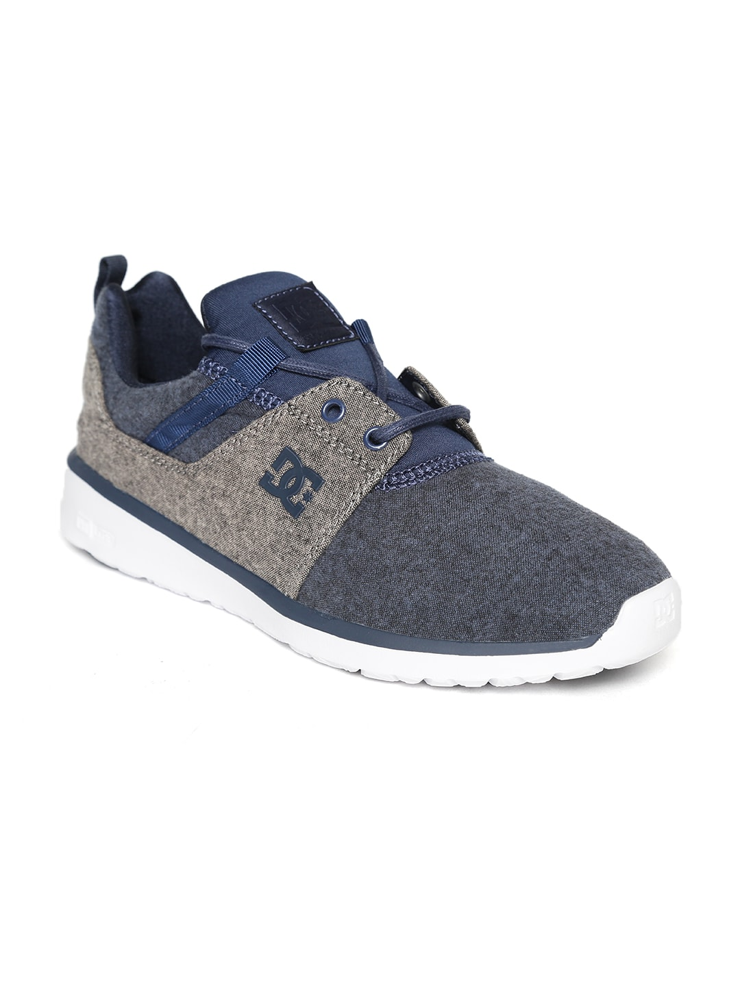 f28a24b0d4a3 DC Men Navy Blue   Charcoal Grey Colourblocked Sneakers