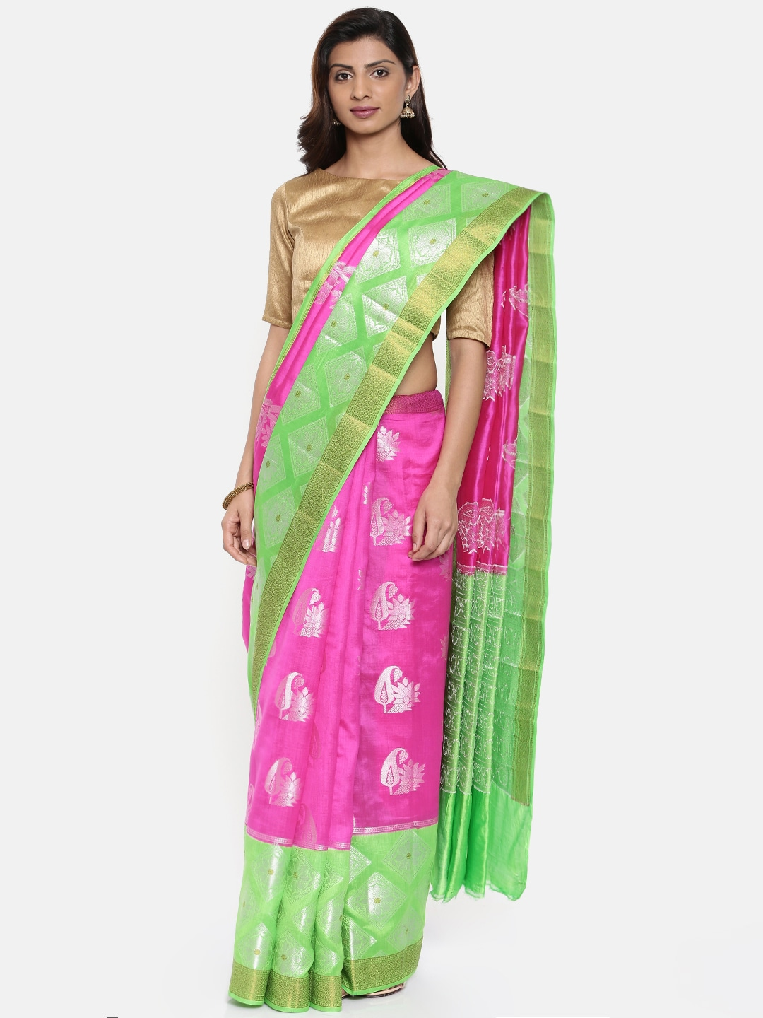 d09de116ef Pins Traditional Sarees - Buy Pins Traditional Sarees online in India